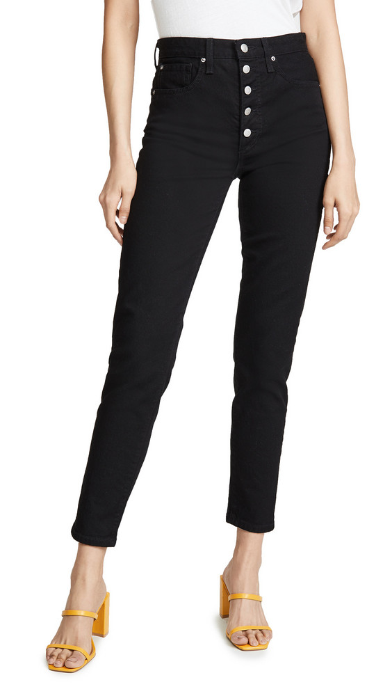 Joe's Jeans x We Wore What Danielle High Rise Vintage Straight Jeans in black