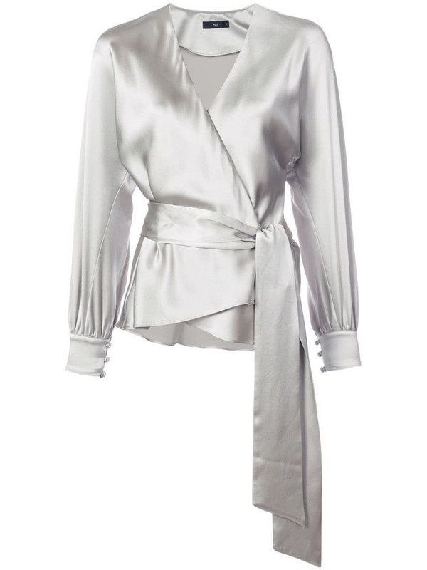 VOZ Liquid blouse in grey