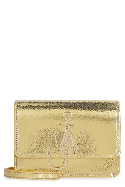 J.W. Anderson Anchor Logo Leather Shoulder Bag in gold