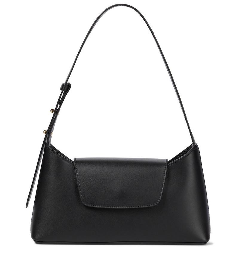 Elleme Envelope leather shoulder bag in black