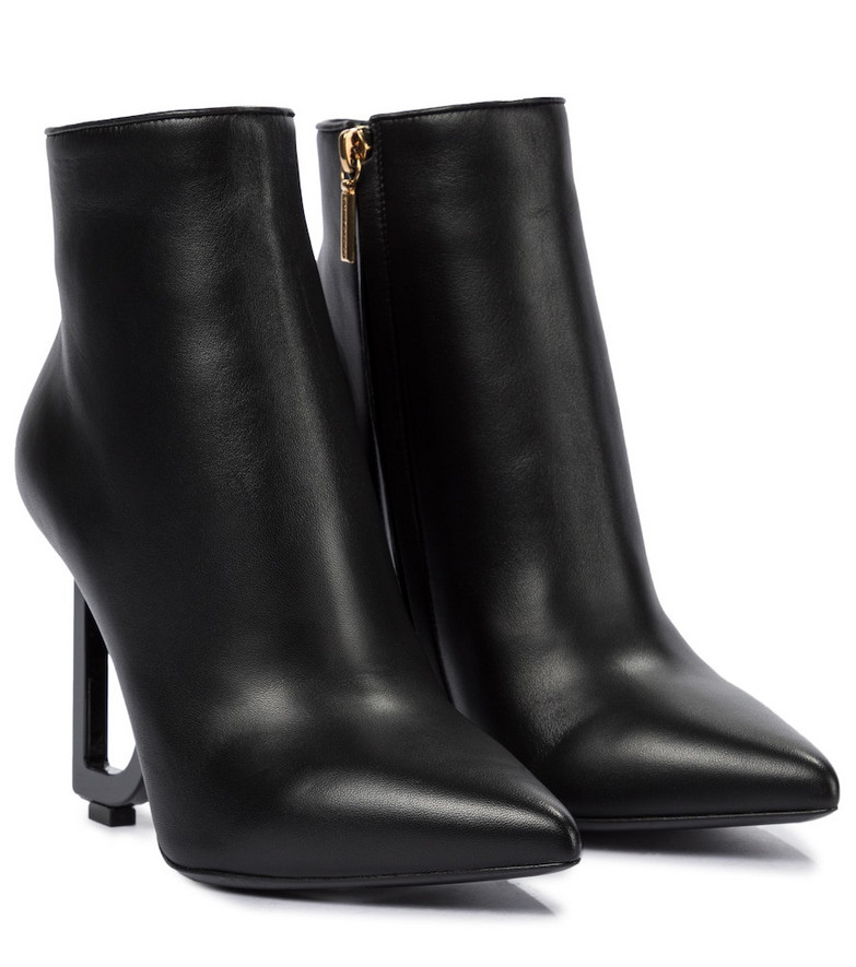 Dolce & Gabbana Leather ankle boots in black