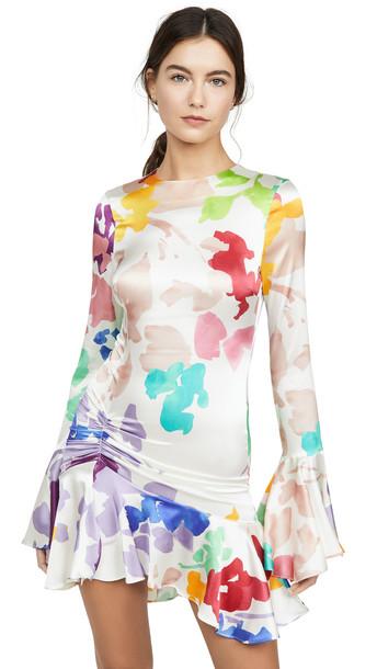 Caroline Constas Monique Mini Dress in white / multi