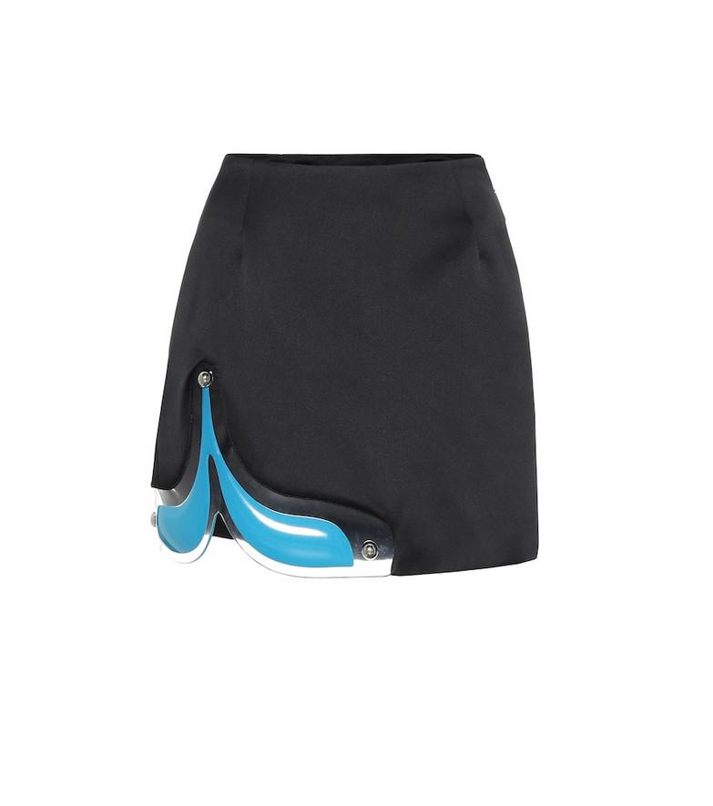 Christopher Kane PVC-trimmed miniskirt in black