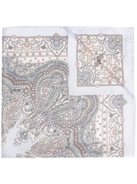 Acne Studios paisley print silk scarf in purple