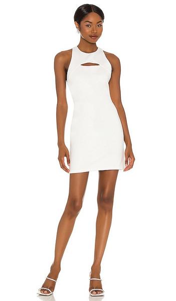 Alice + Olivia Alice + Olivia Gara Cutout Mini Dress in White