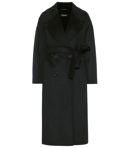 S Max Mara Simone wool and cashmere coat in blue