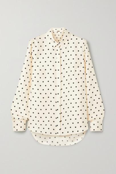Adam Lippes - Polka-dot Silk-twill Shirt - Ivory