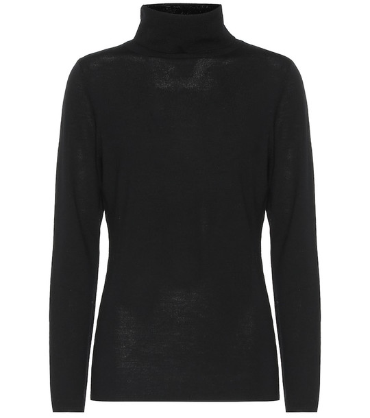 Jardin des Orangers Wool turtleneck sweater in black