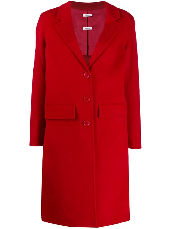 P.A.R.O.S.H. single-breasted mid-length coat in red
