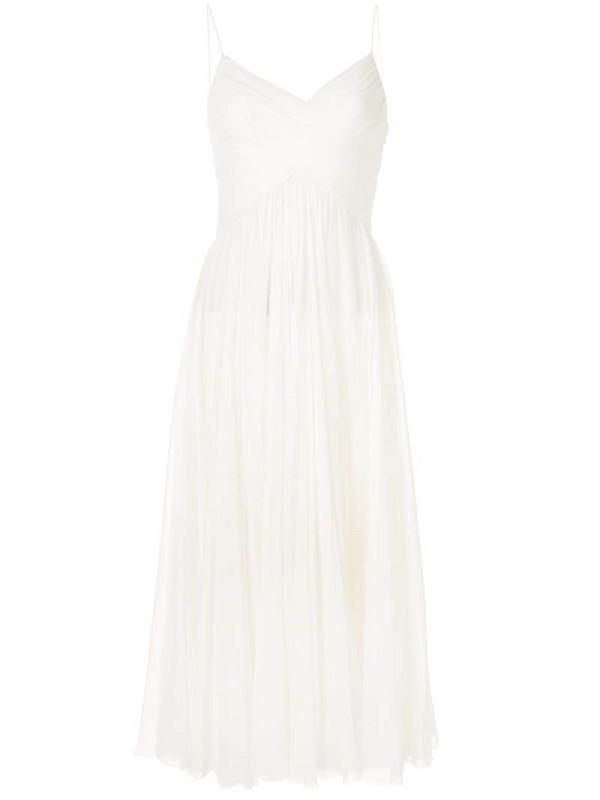 Alexis Sarrana pleated dress in white