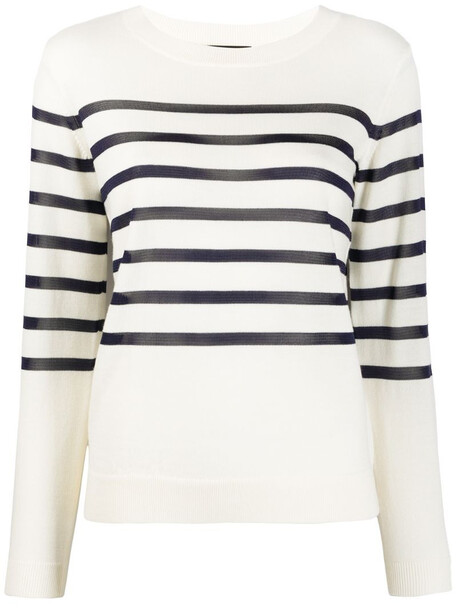 A.P.C. Cordelia striped slim-fit jumper in neutrals