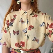 blouse,vintage,90s style,grunge,style,cute,butterfly,nabi,cool,lovely,love,cool shirts