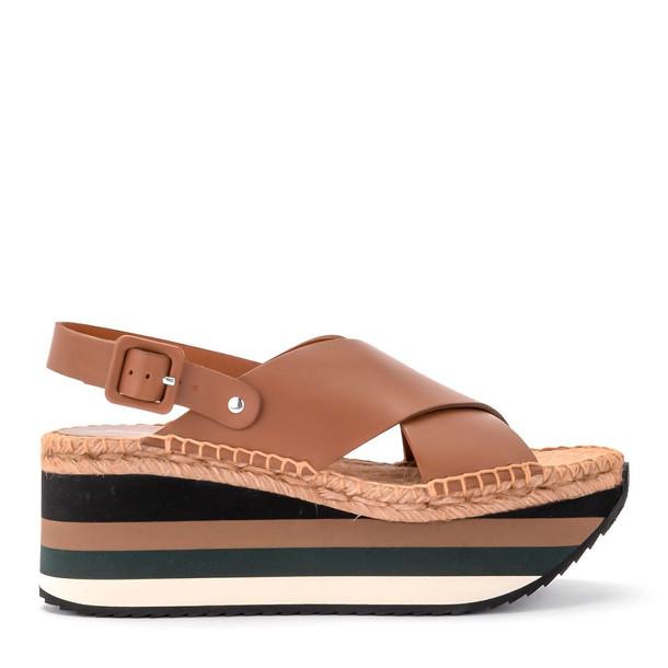 Paloma Barcelò Paloma Barceló Kyoto Leather Wedge Sandal