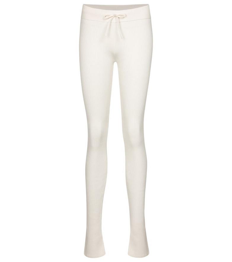 Reebok x Victoria Beckham Cotton, silk and linen jersey leggings in white