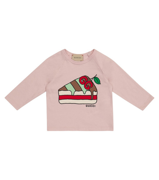 Gucci Kids Baby cotton top in pink