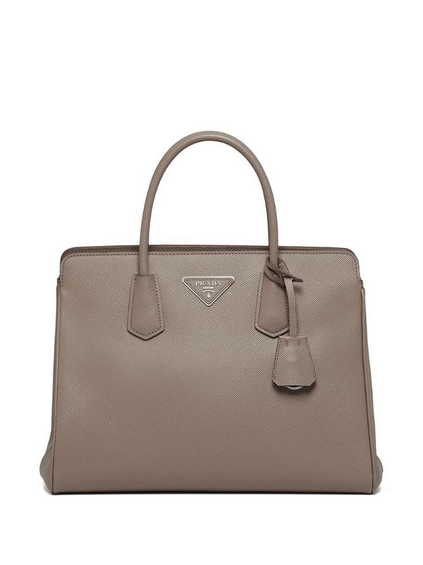 Prada triangle-logo tote bag in grey