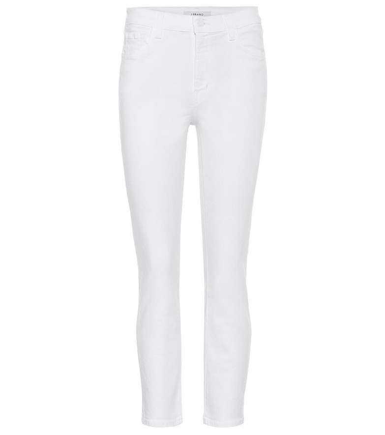 J Brand Ruby high-rise cropped skinny jeans in white