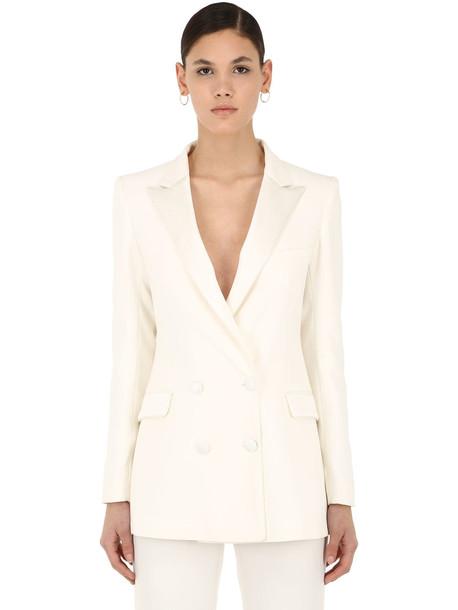 HEBE STUDIO Bianca Viscose Cady Blazer in white
