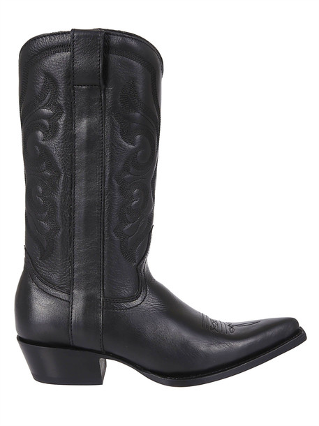 Ash Embroidered Boots in black