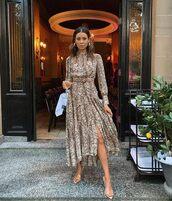 dress,beige dress,snake print,snakeprint dress