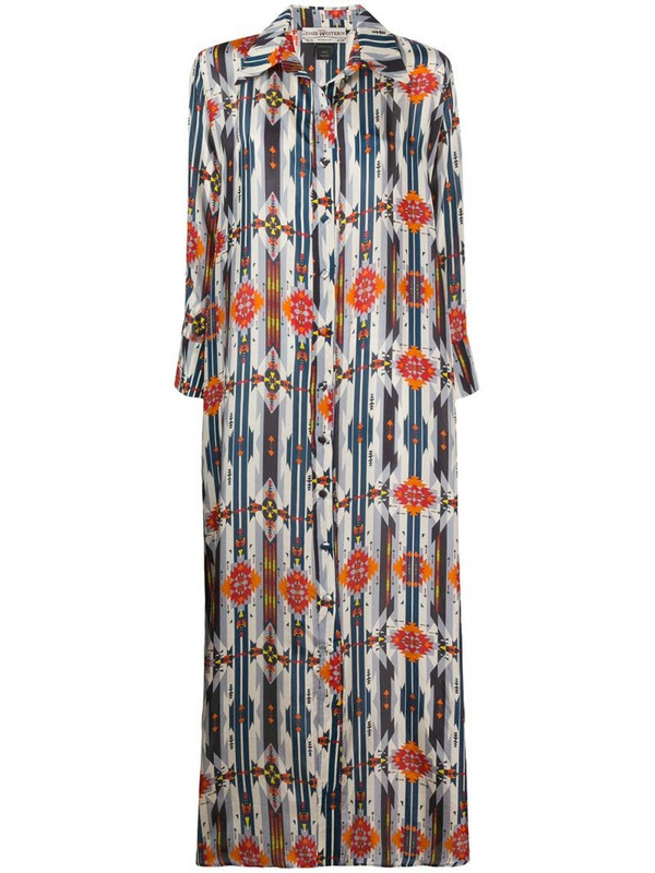 Jessie Western Navajo-print shirt dress in blue