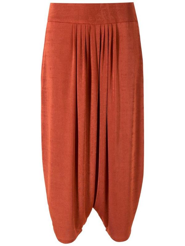 Alcaçuz Lucila cropped trousers in orange