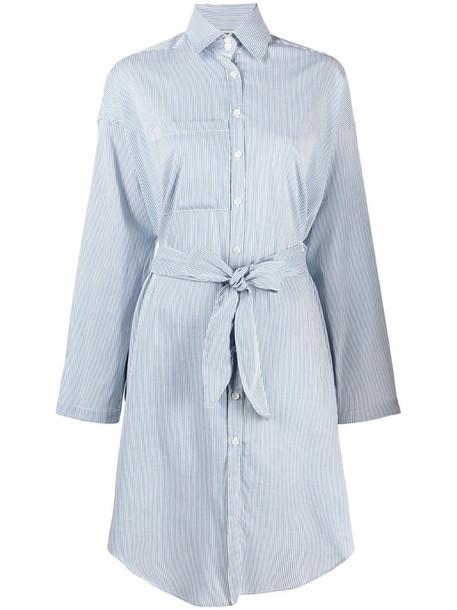 Semicouture striped shirt dress in blue
