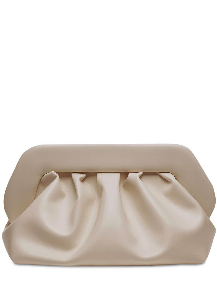 THEMOIRÈ Bios Faux Leather Clutch in sand