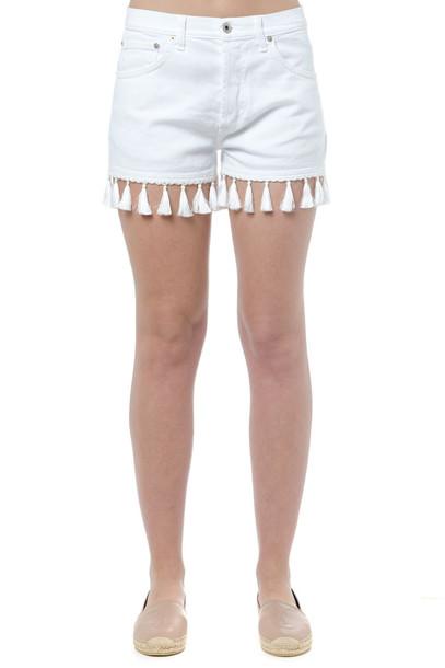 Dondup White Micol Cotton Shorts