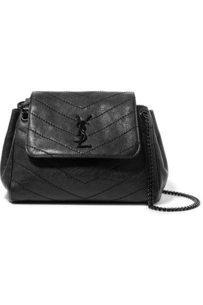 SAINT LAURENT - Nolita Small Quilted Leather Shoulder Bag - Black