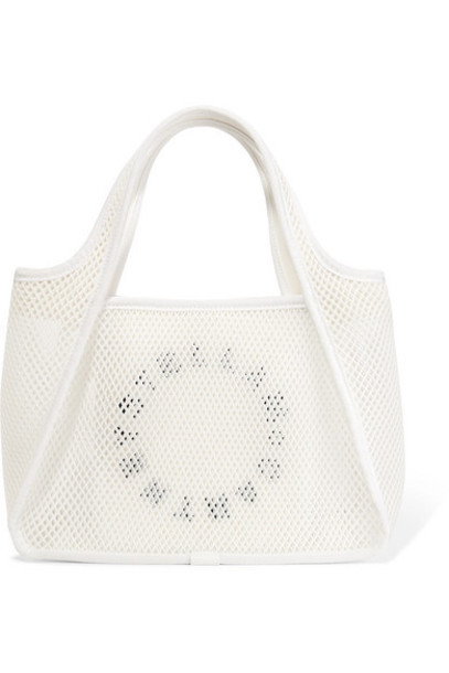 Stella McCartney - Printed Canvas And Mesh Tote - White