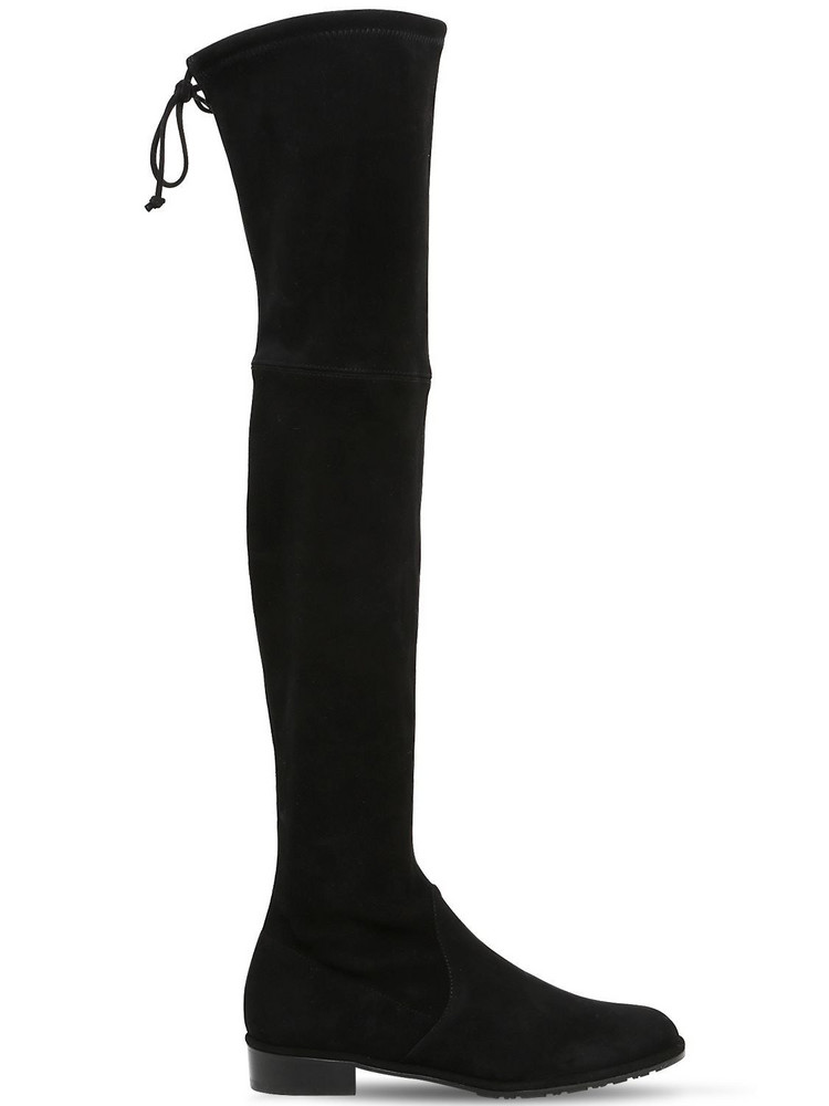 STUART WEITZMAN 30mm Lowland Stretch Suede Boots in black