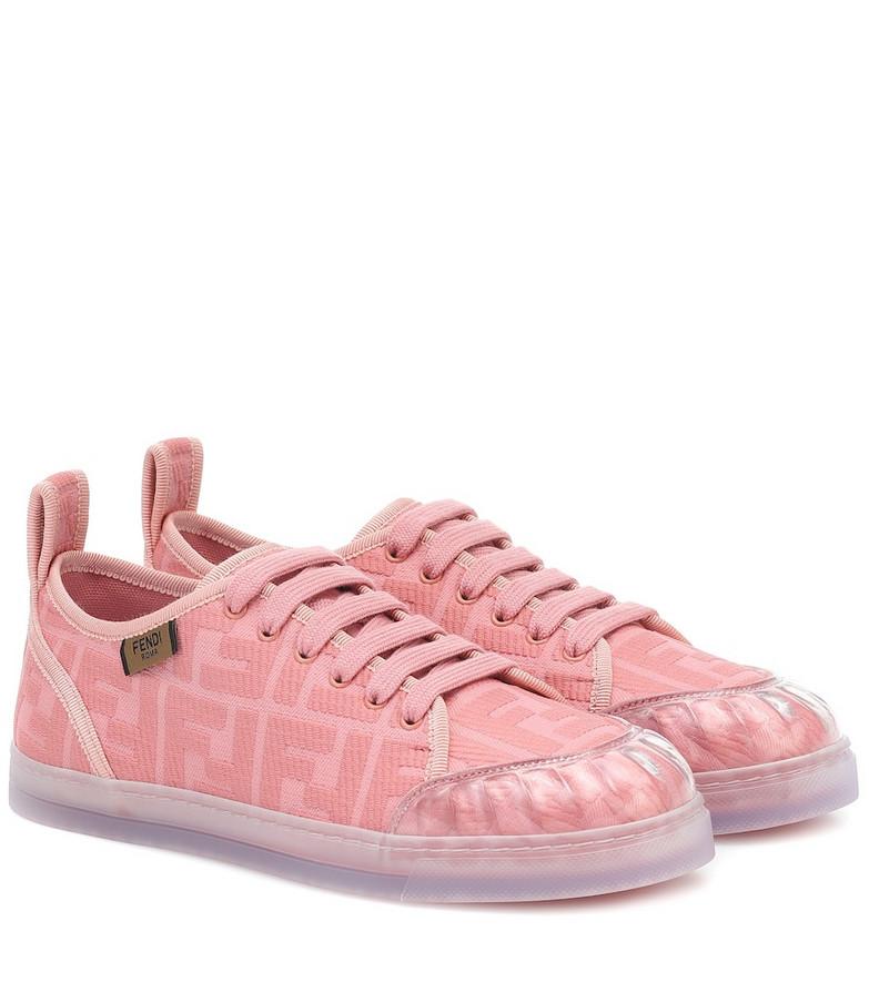 Fendi Promenade FF canvas sneakers in pink