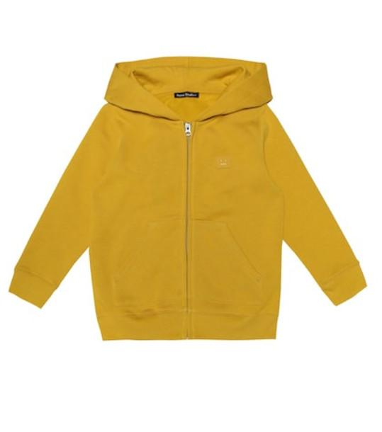 Acne Studios Kids Mini Ferris Face cotton hoodie in yellow