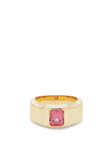 Retrouvai - Malaya Garnet & 14kt Gold Ring - Womens - Red Gold