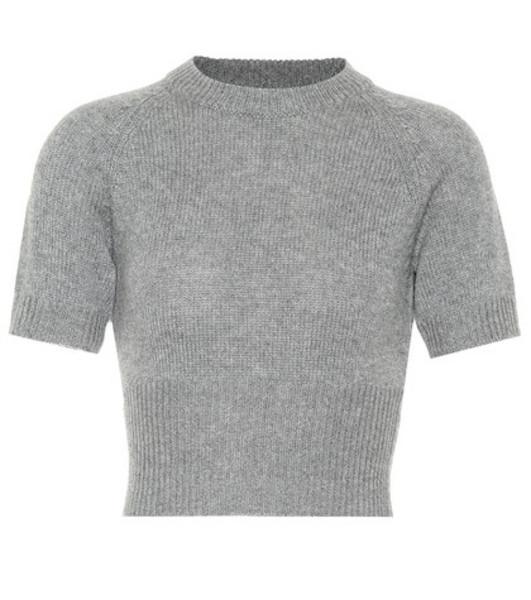 Prada Cropped cashmere sweater in grey