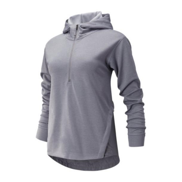 New Balance 93213 Women's Q Speed Run Crew Sweatshirt - Grey (WT93213SQZ)