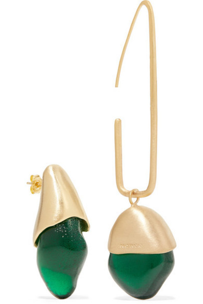 1064 Studio - Gold-plated And Resin Earrings