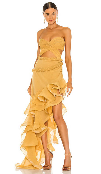 Bronx and Banco Jina Gown in Yellow in mustard