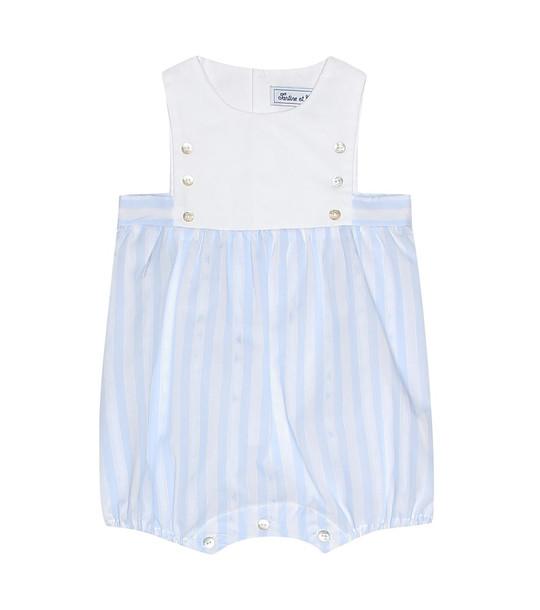 Tartine et Chocolat Baby striped cotton playsuit in blue