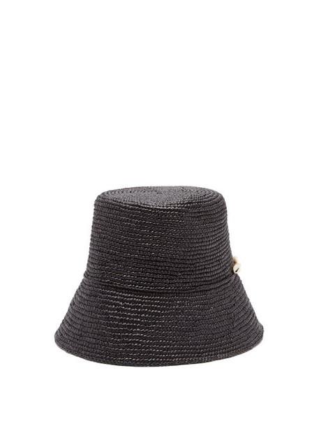2a4d8b9e Sensi Studio - Hippie Shell Embellished Straw Hat - Womens - Black ...