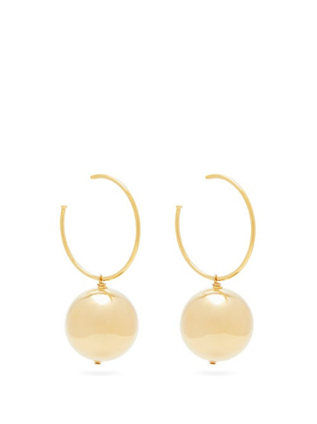 Carolina Herrera - Sphere Hoop Earrings - Womens - Gold