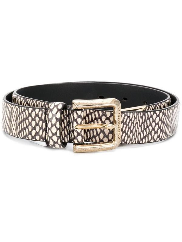 Just Cavalli snake pattern belt in white