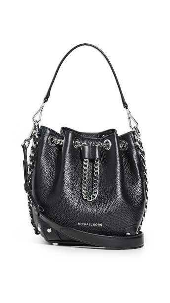 MICHAEL Michael Kors Alanis Small Bucket Bag in black