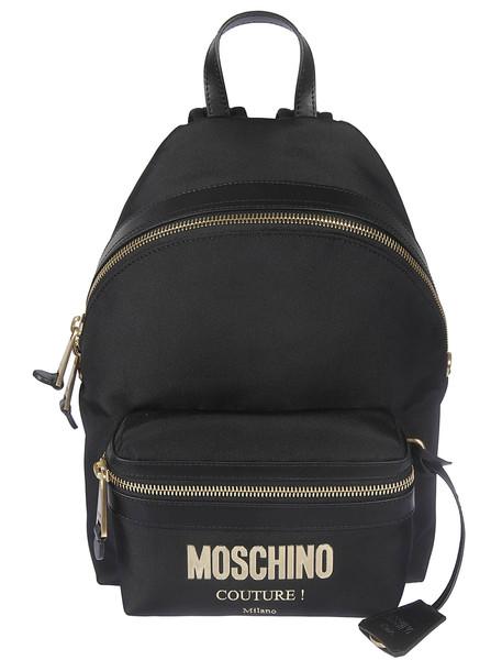 Moschino Logo Plaque Backpack
