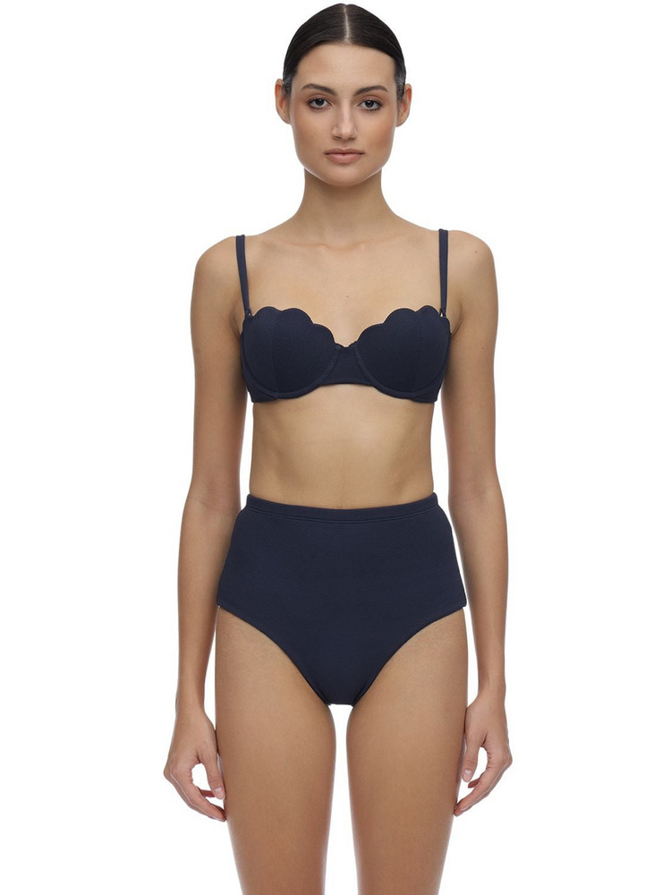 ARABELLA LONDON The Contour Textured Top W/ Underwire in navy