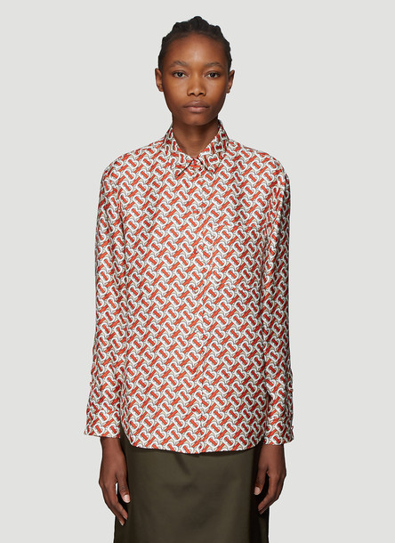 Burberry Monogram Shirt in Red size UK - 10