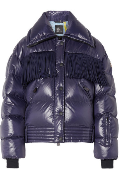 Moncler Genius - 3 Moncler Grenoble Pouri Fringed Quilted Down Ski Jacket - Indigo
