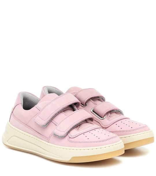 Acne Studios Steffey nubuck sneakers in pink