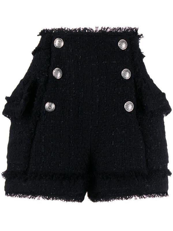 Balmain tweed shorts in black